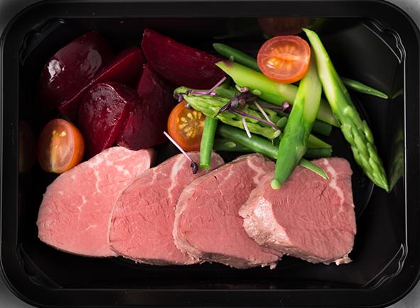 Фланк стейк с овощами-гриль