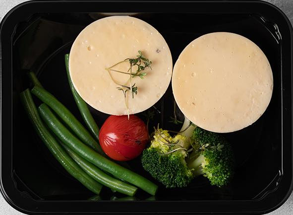 Омлет с зелеными овощами