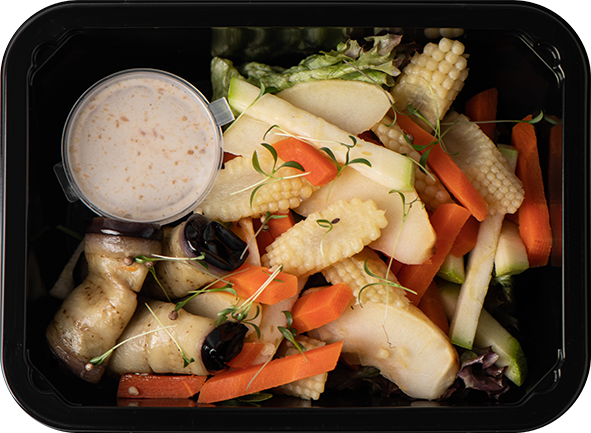 Салат с баклажанами и овощами