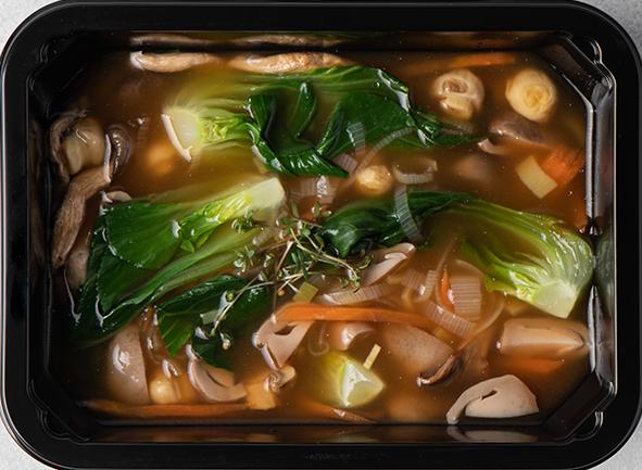 Кисло-сладкий суп с грибами Цао-гу
