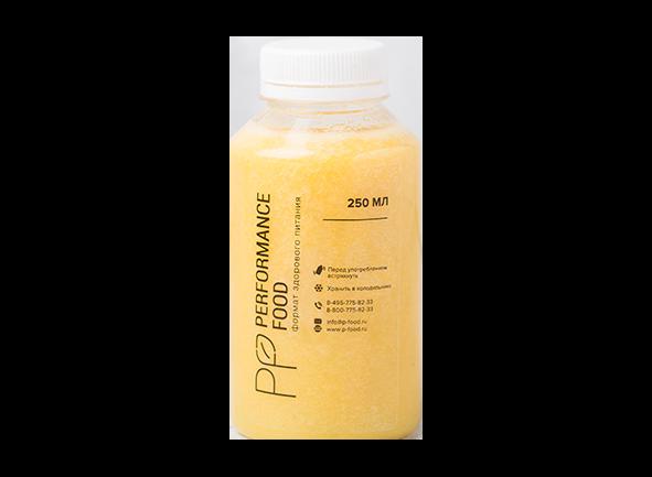 Свежевыжатый яблочно-апельсиновый сок